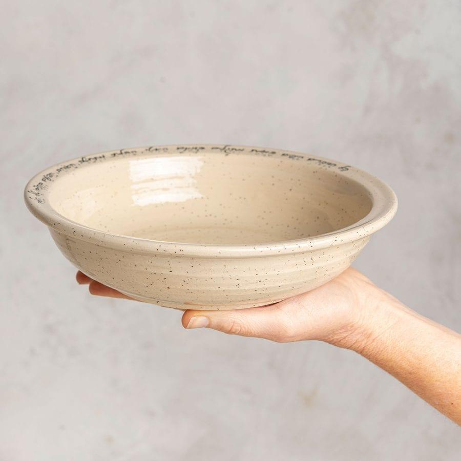 קערת הודיה מקרמיקה בעבודת יד   רחלי אלון - כלים אומרים שירה