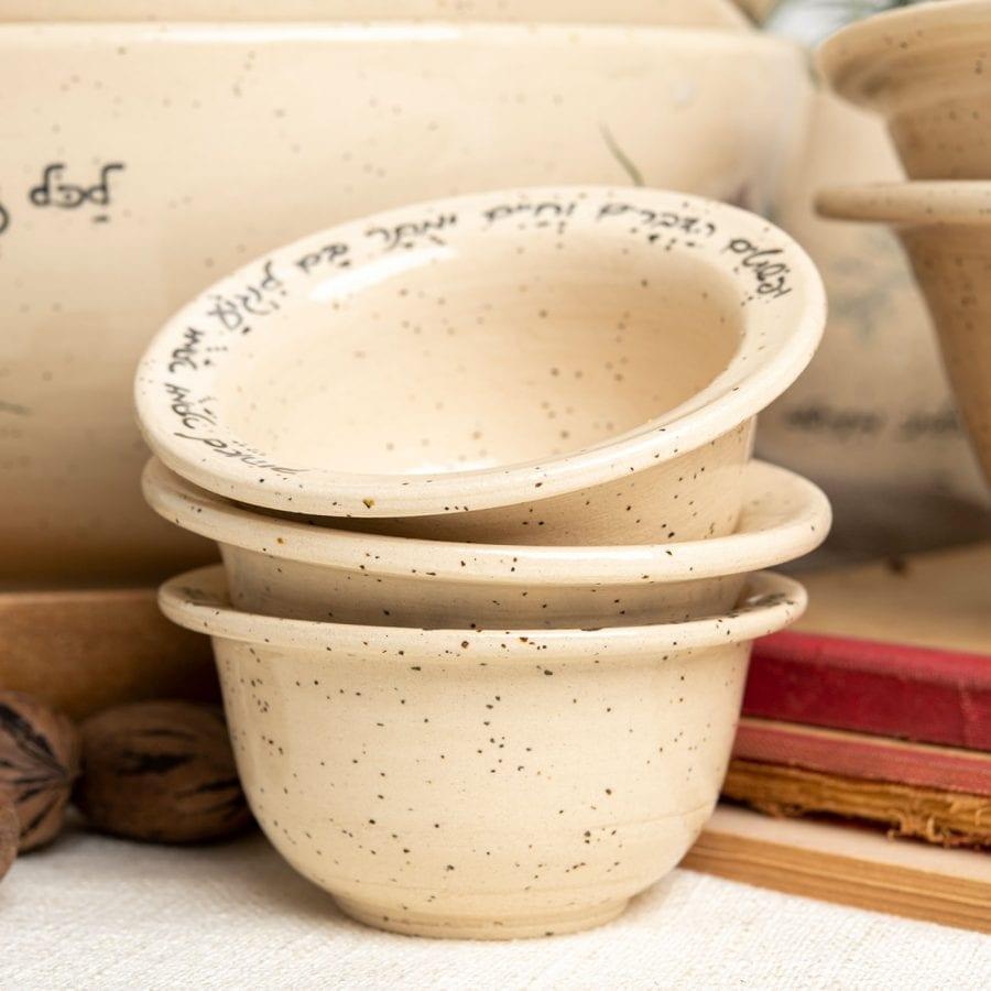 קעריות חופן מקרמיקה בעבודת יד | רחלי אלון - כלים אומרים שירה
