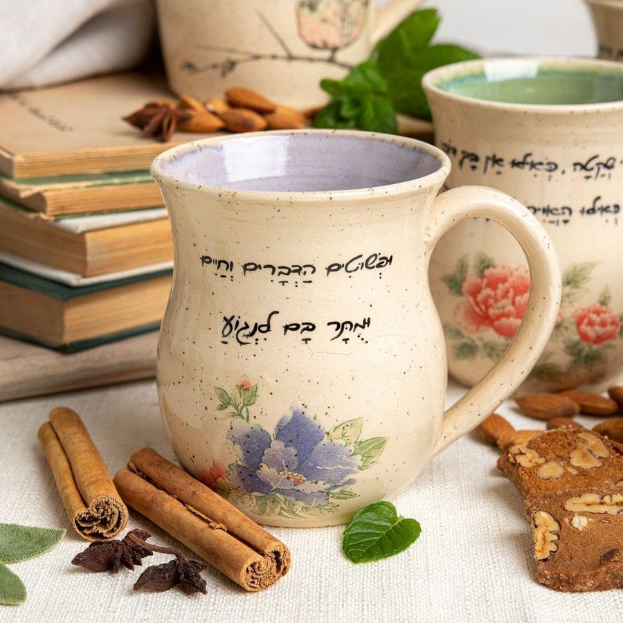האומנם - כוס פינוק מקרמיקה בעבודת יד   רחלי אלון - כלים אומרים שירה