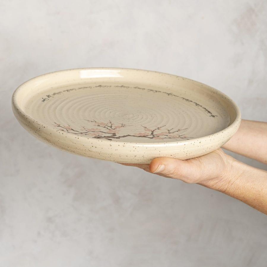 צלחת שפע מקרמיקה בעבודת יד   רחלי אלון - כלים אומרים שירה